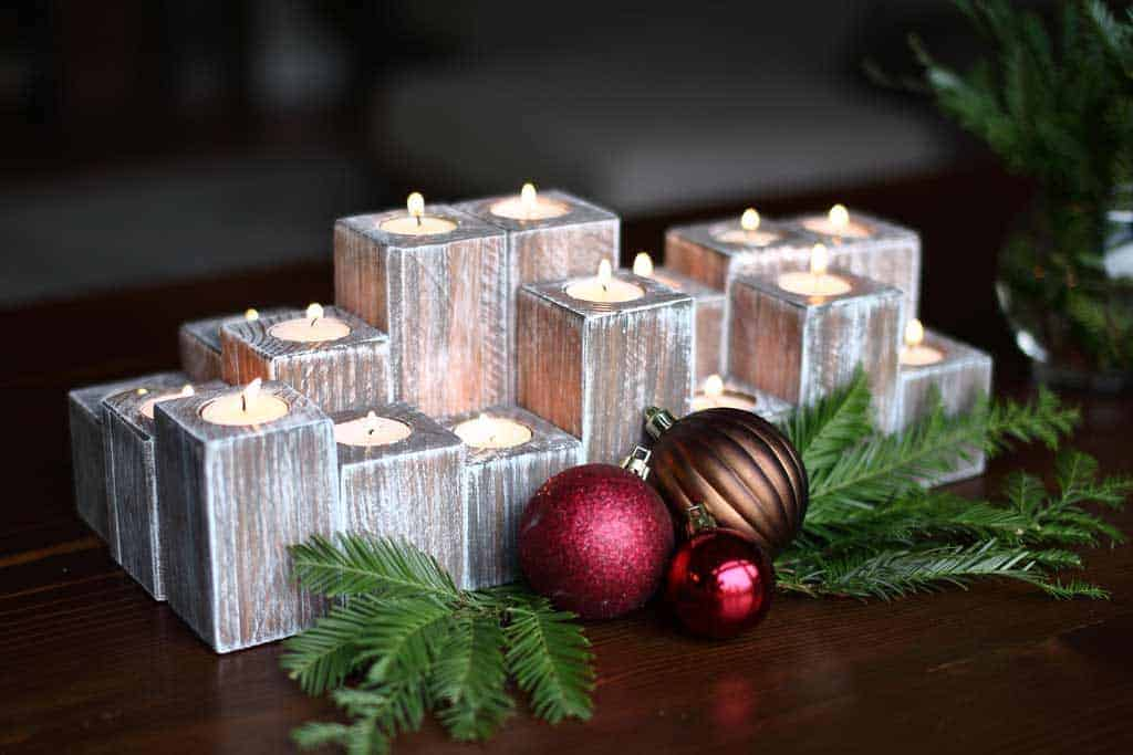 DIY Wood Candle Holder