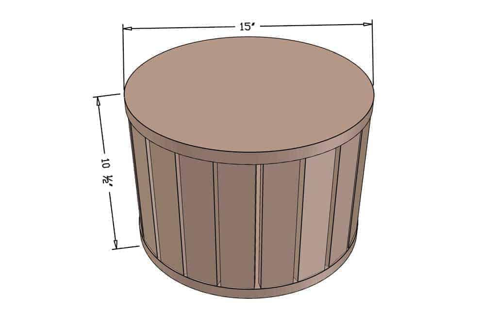 DIY Ottoman Pouf dimensions