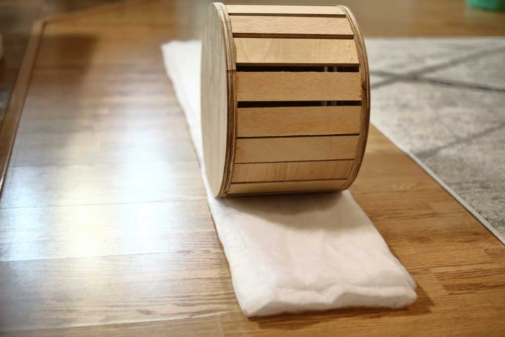 wrapping ottoman with cushion