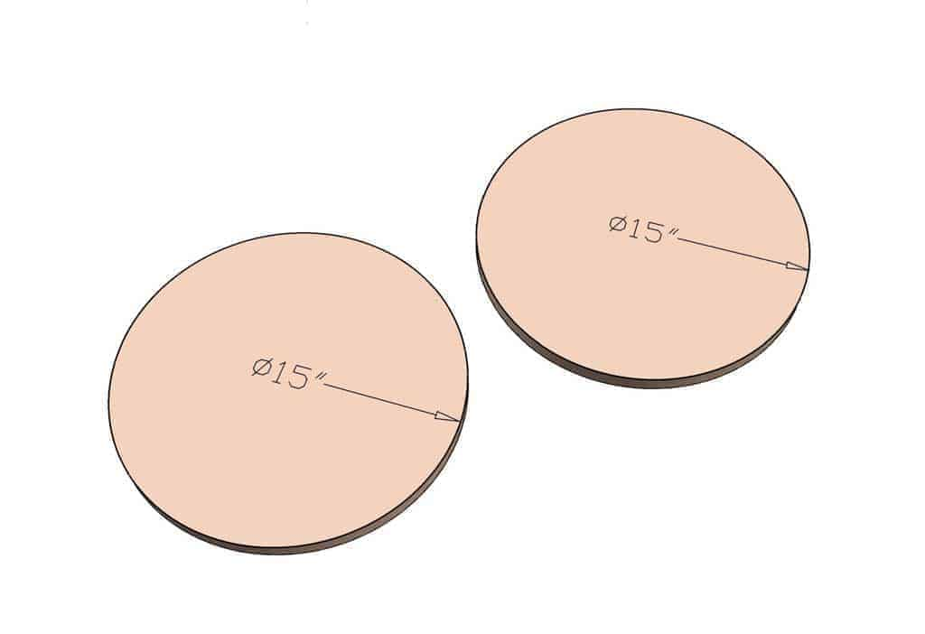 round disks for ottoman