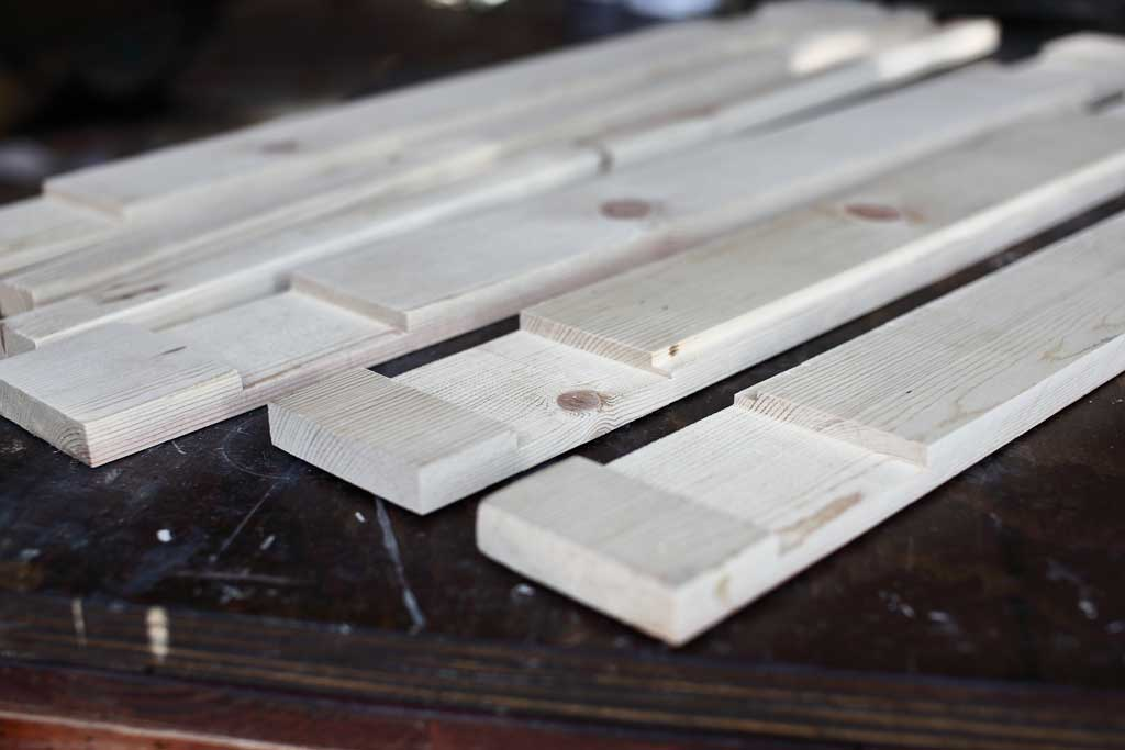wood pieces for DIY mirror Frame for Entryway