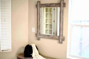 DIY mirror Frame for Entryway