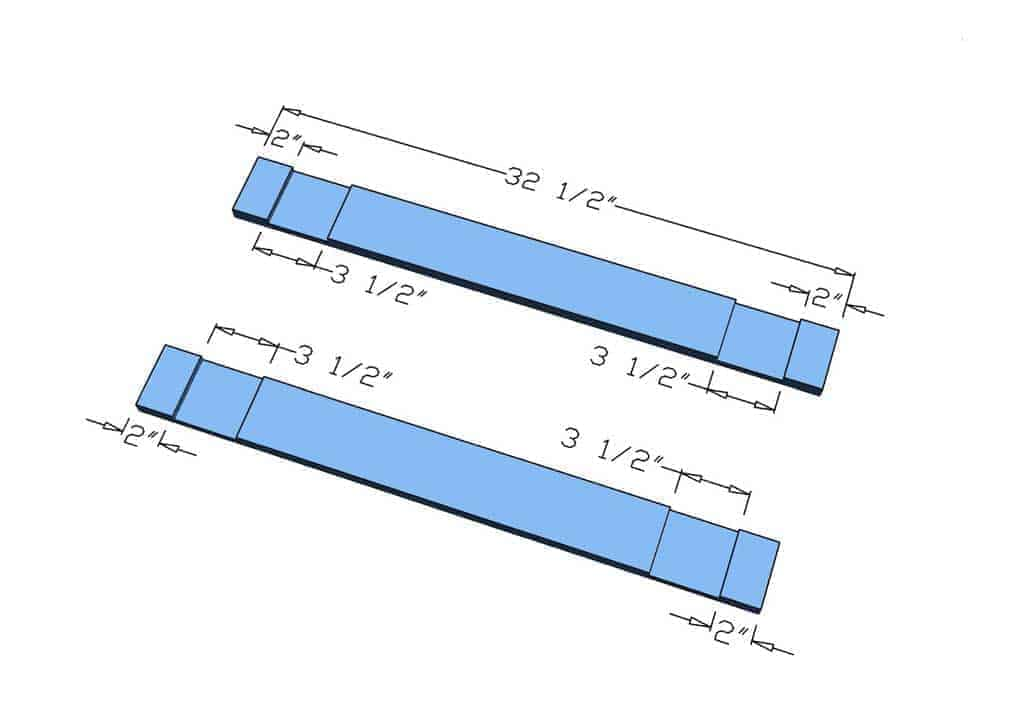 dimensions for the DIY mirror Frame for Entryway