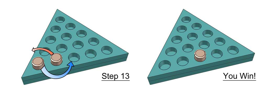 how to wind triangle peg game