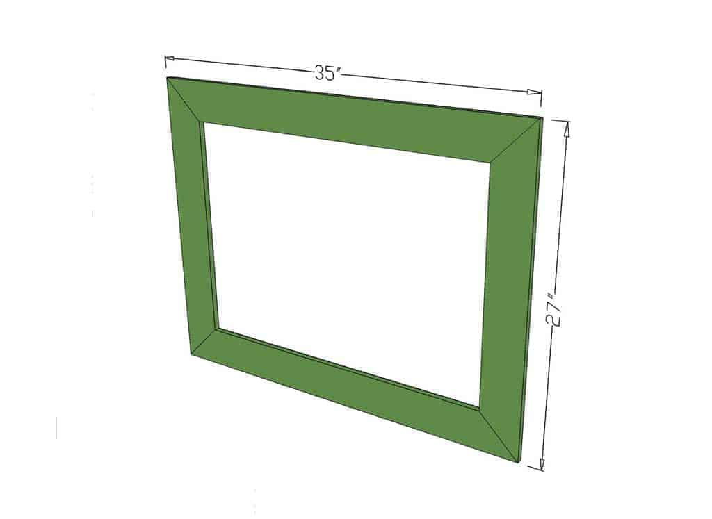 frame dimensions for the DIY Reclaimed Wood Frame Sign