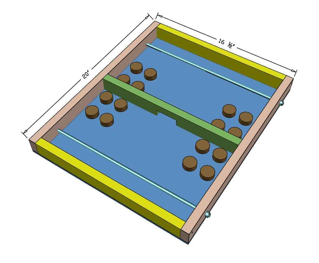 DIY Pucket Game dimensions
