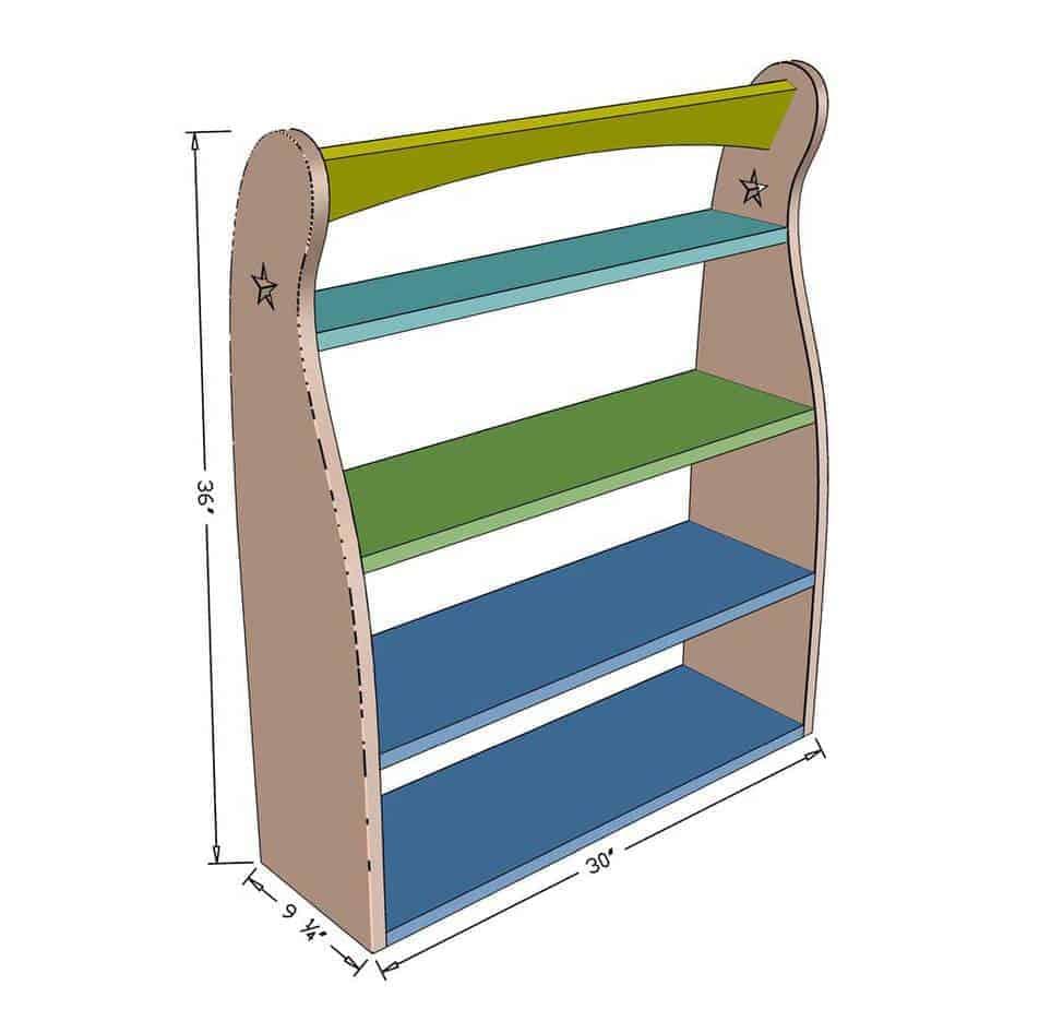 DIY Curved Shelf dimensions