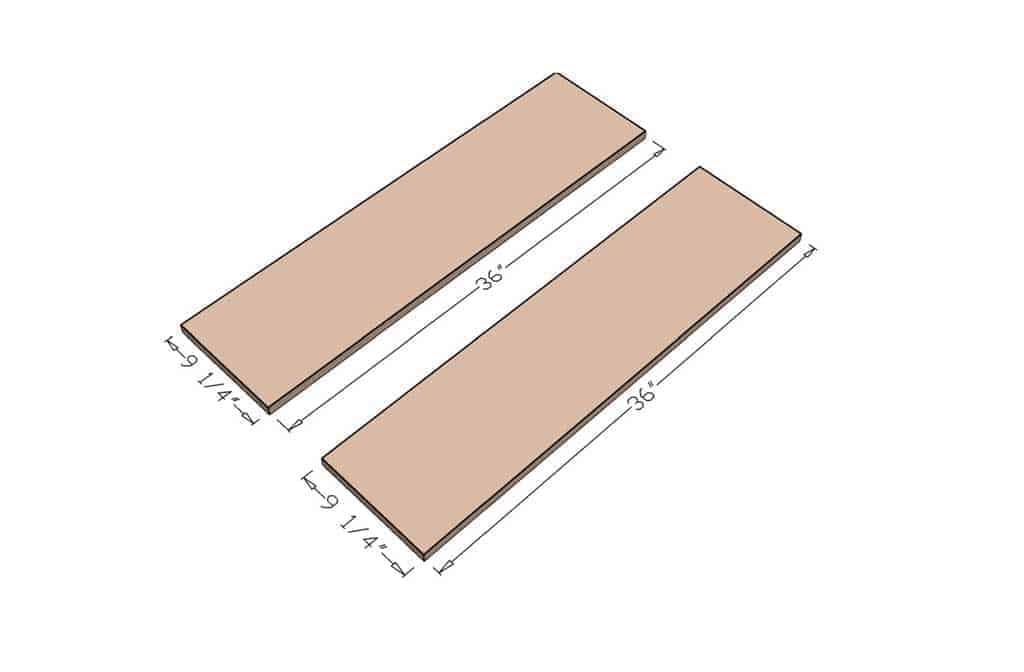 cut side boards for DIY Curved Shelf
