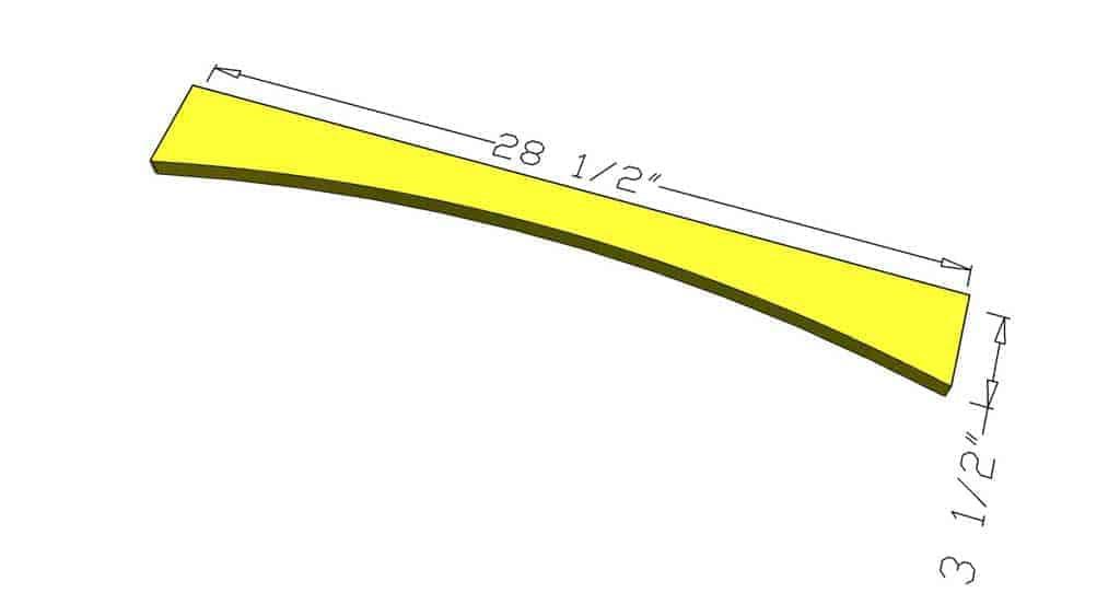 upper shelf lip for DIY Curved Shelf