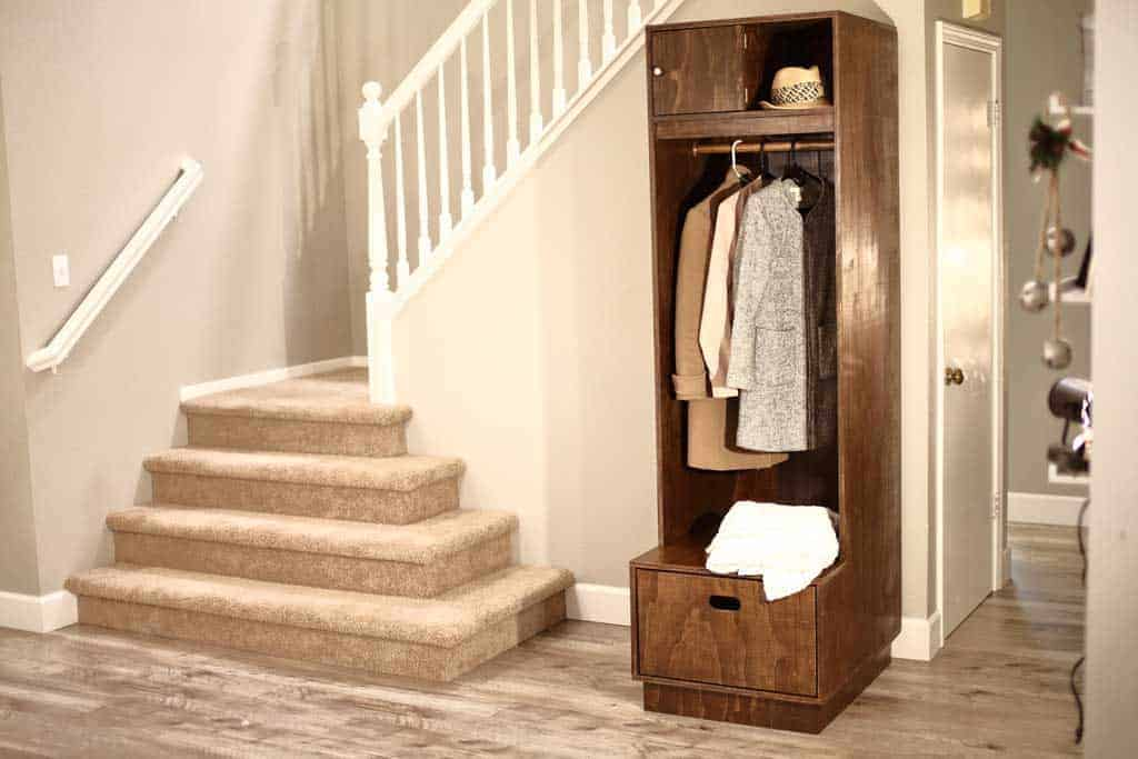 DIY Mudroom Locker