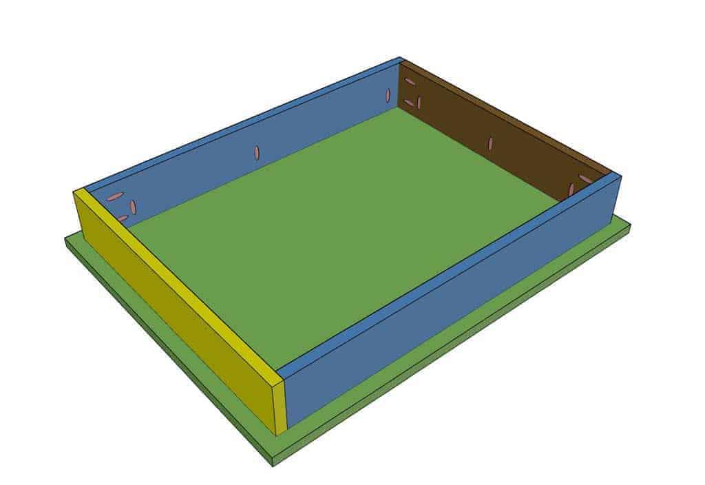 base of the DIY Mudroom Locker