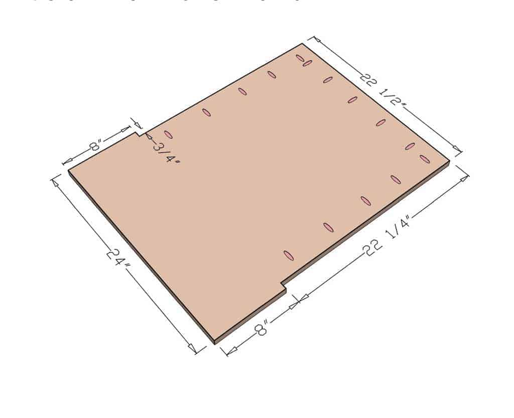 seating board dimensions with pocket holes for the DIY Mudroom Locker