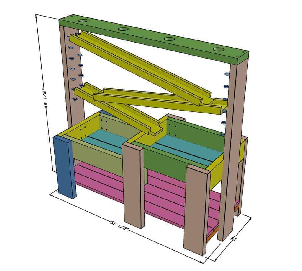 DIY Sensory Table dimensions