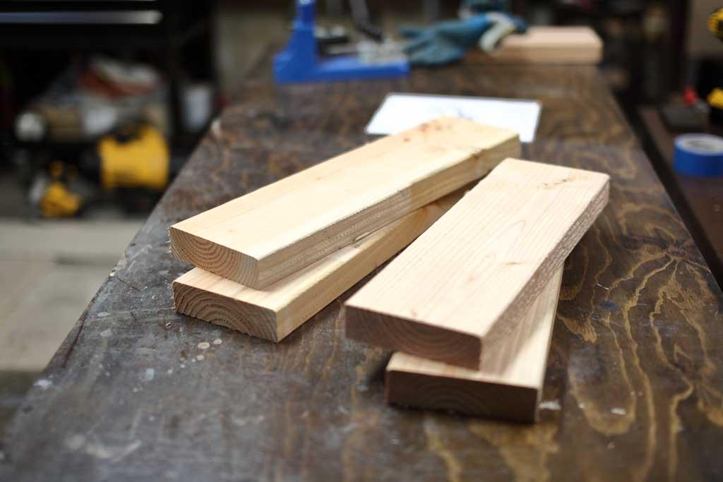 boards for upper frame for DIY Sensory Table