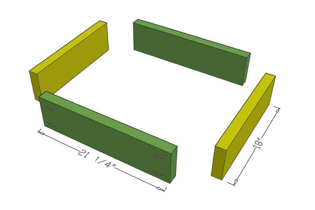 upper frame boards for DIY Sensory Table