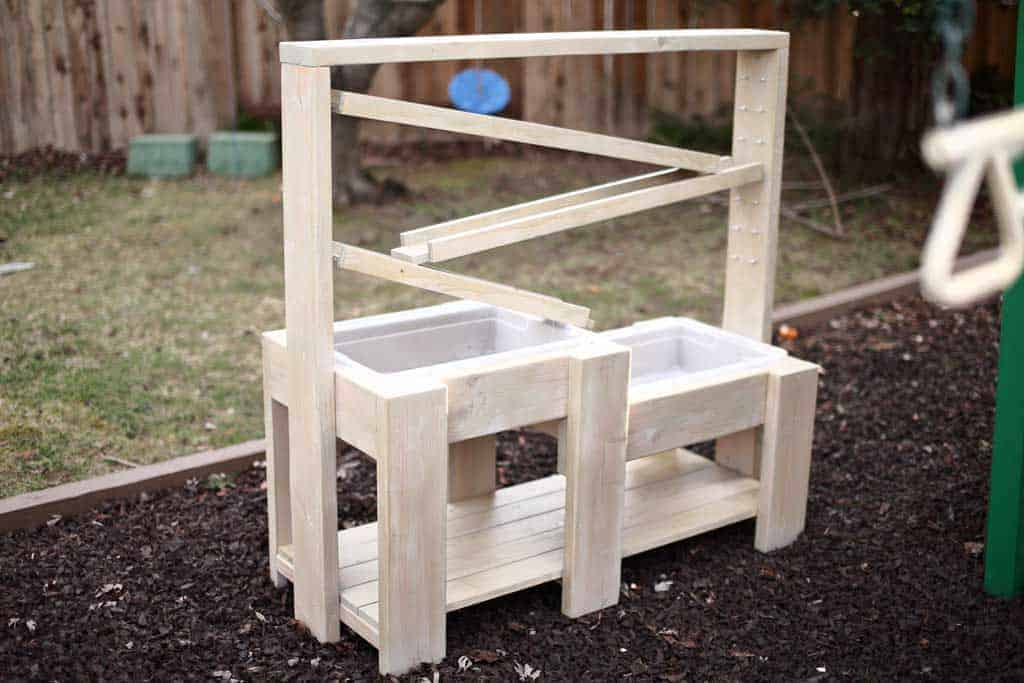 DIY Sensory Table with water ramps