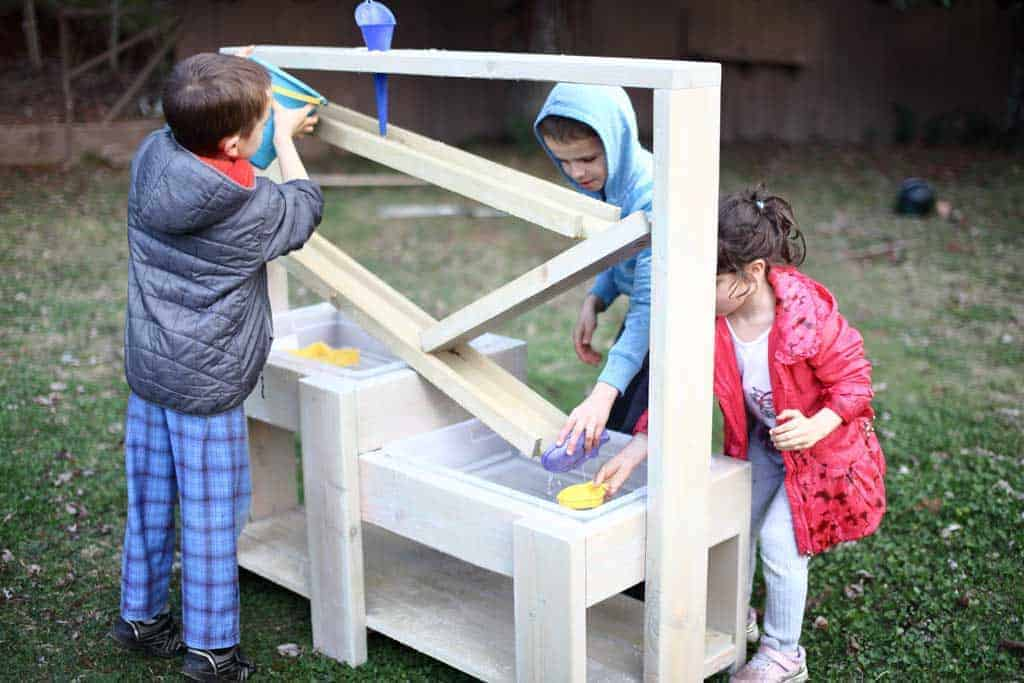 How to build a DIY Sensory Table with Water Ramps