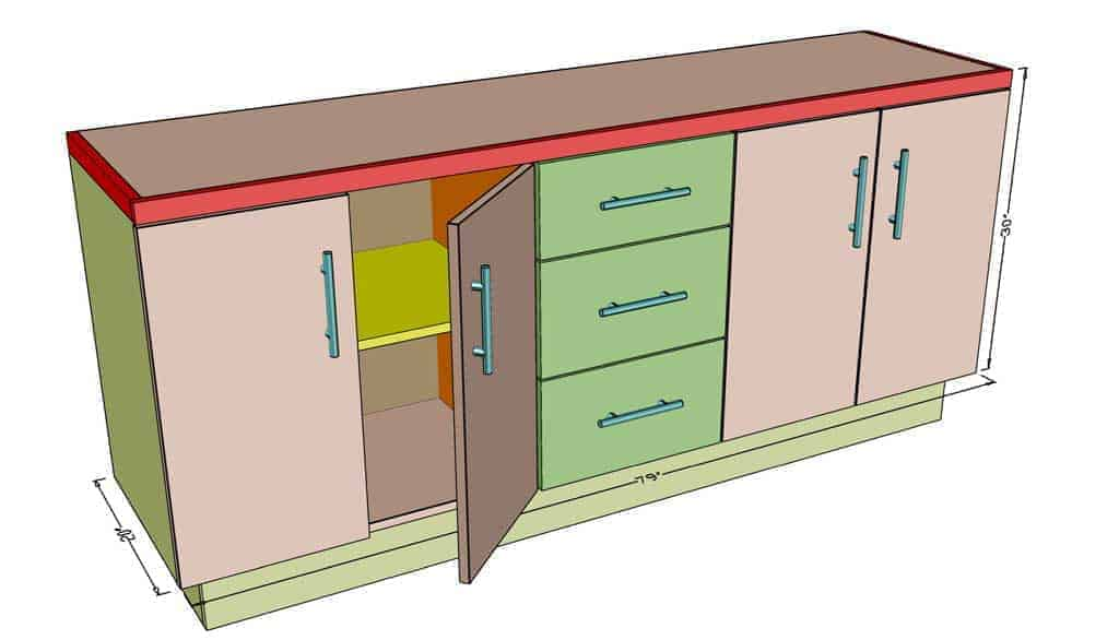 DIY Garage Cabinets dimensions