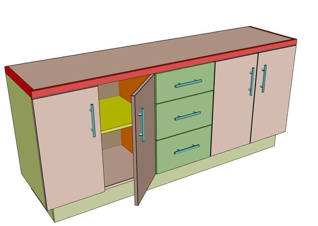 DIY Garage Cabinets with drawers