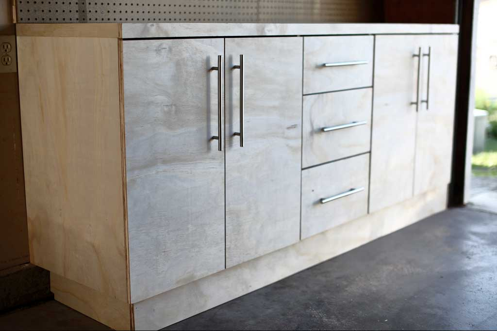 How To Build Diy Garage Cabinets And Drawers Thediyplan