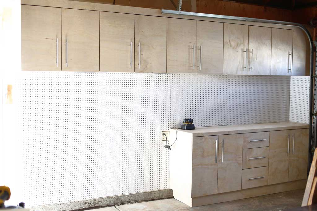 pegboard on the wall