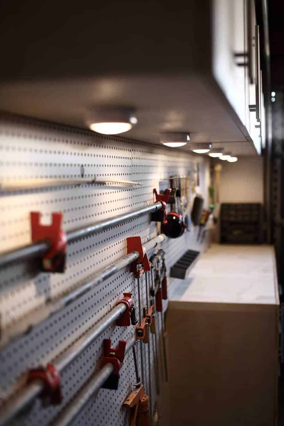 LED lights for DIY Pegboard Wall