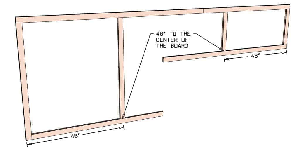 frame for DIY Pegboard Wall