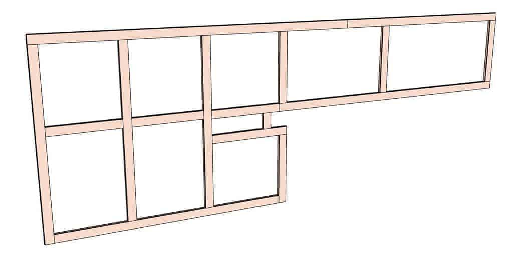 frame for pegboard