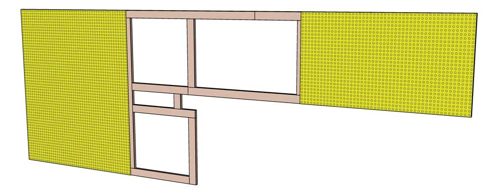 attaching pegboard to 1x3 boards