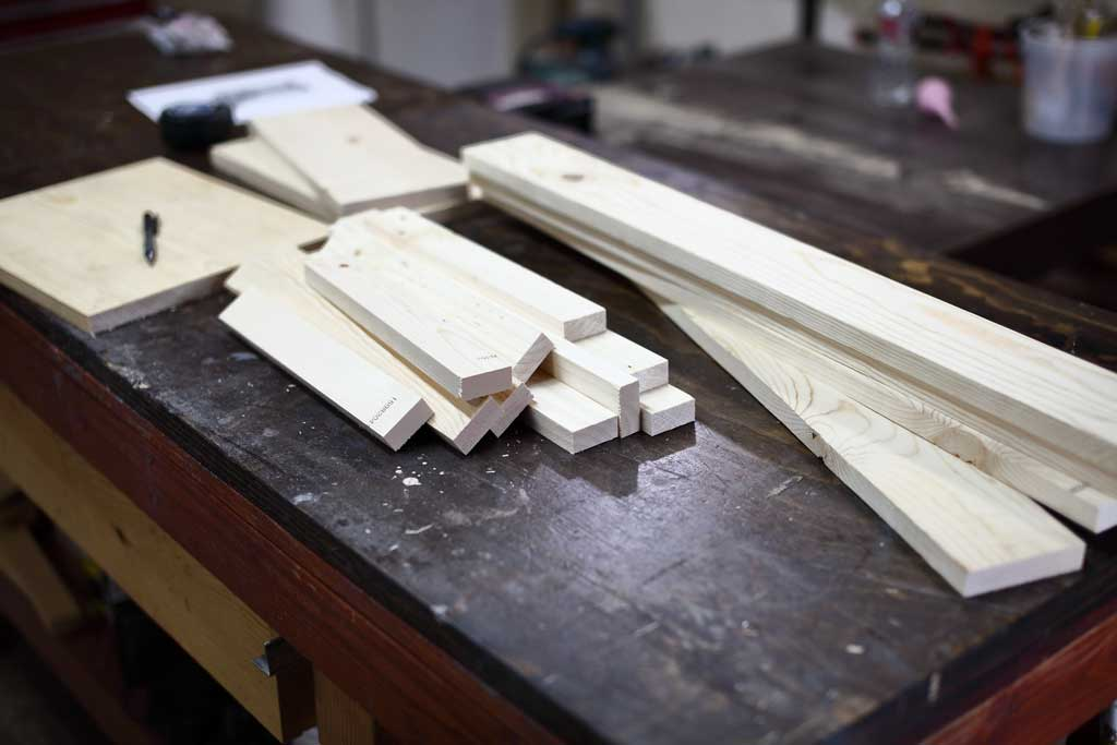 wood boards for the DIY Toddler Step Stool
