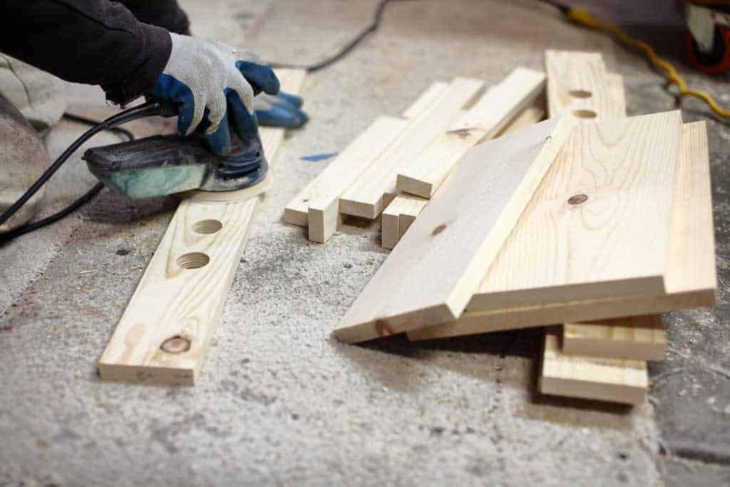 sanding boards for the DIY Toddler Step Stool