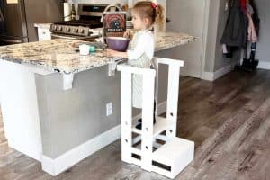 DIY Stepping Stool with Guard Rails