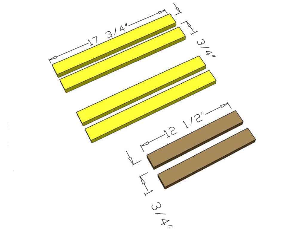 cut step supports for DIY Toddler Step Stool