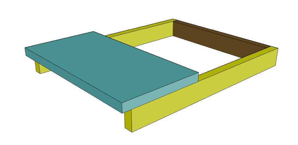 attach lower step board for the DIY Toddler Step Stool
