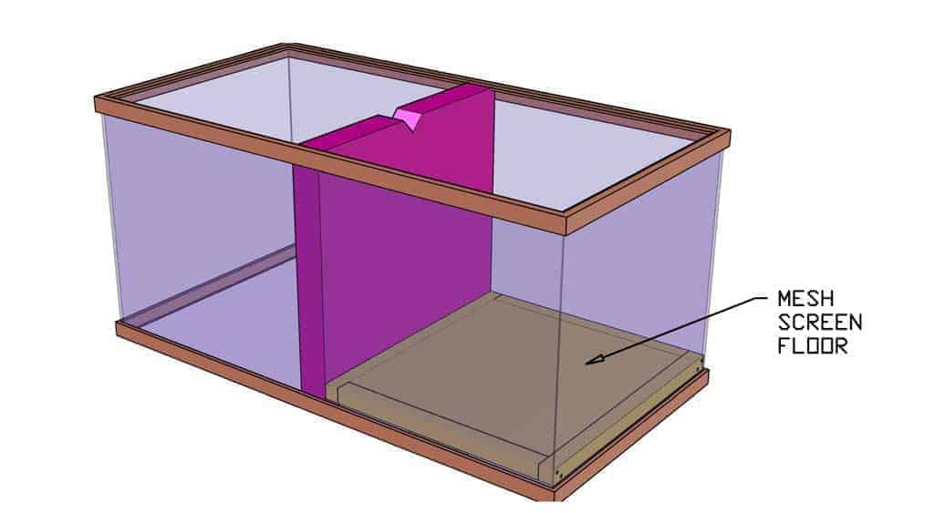 raised floor for DIY Glass Incubator
