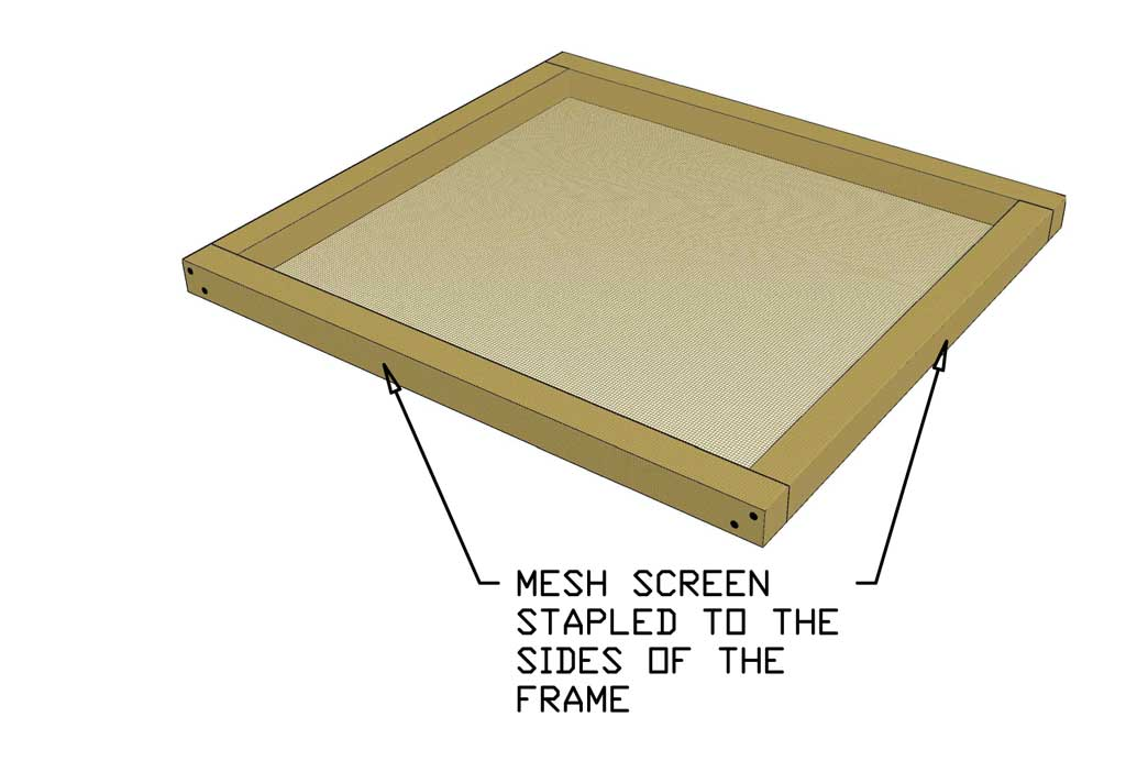 mesh screen floor for DIY Glass Incubator