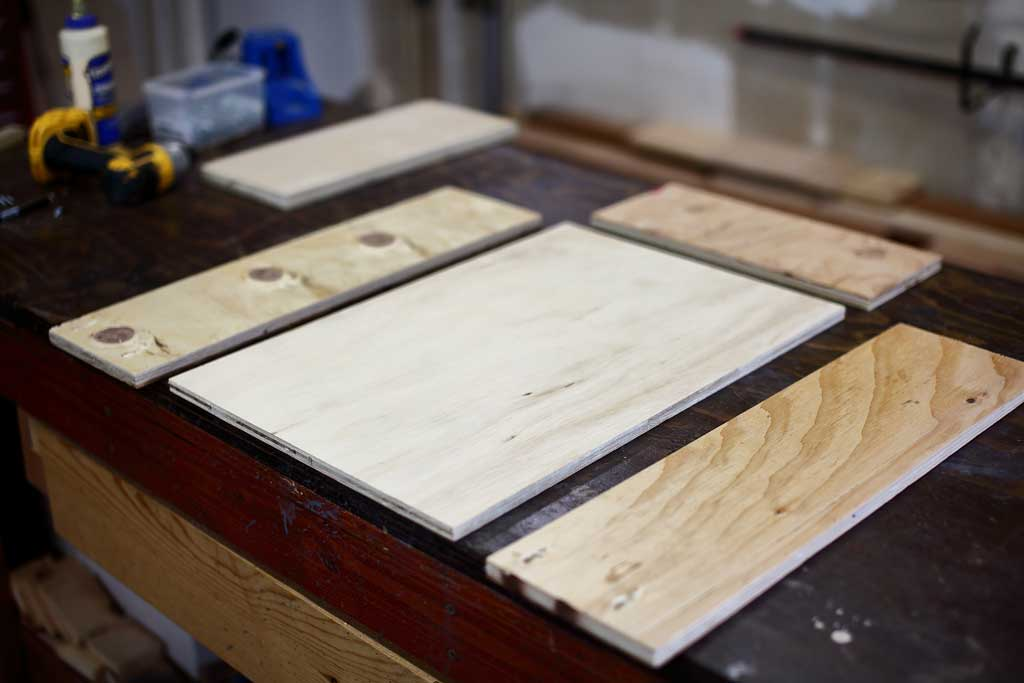 drawer box plywood pieces