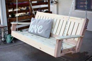 DIY outdoor swing bench