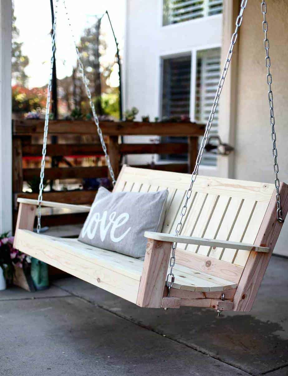 How To Build A Diy Outdoor Swing Bench Thediyplan