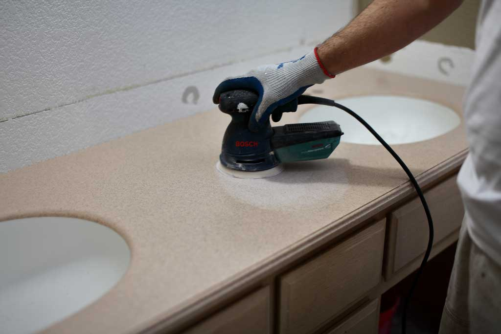 sanding counter top for epoxy