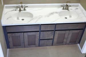 Bathroom Vanity with DIY Epoxy Resin