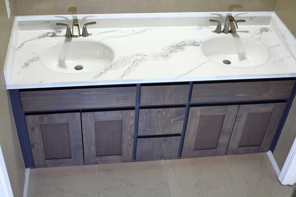 How To Refinish Bathroom Vanity Top With Diy Epoxy Resin Thediyplan