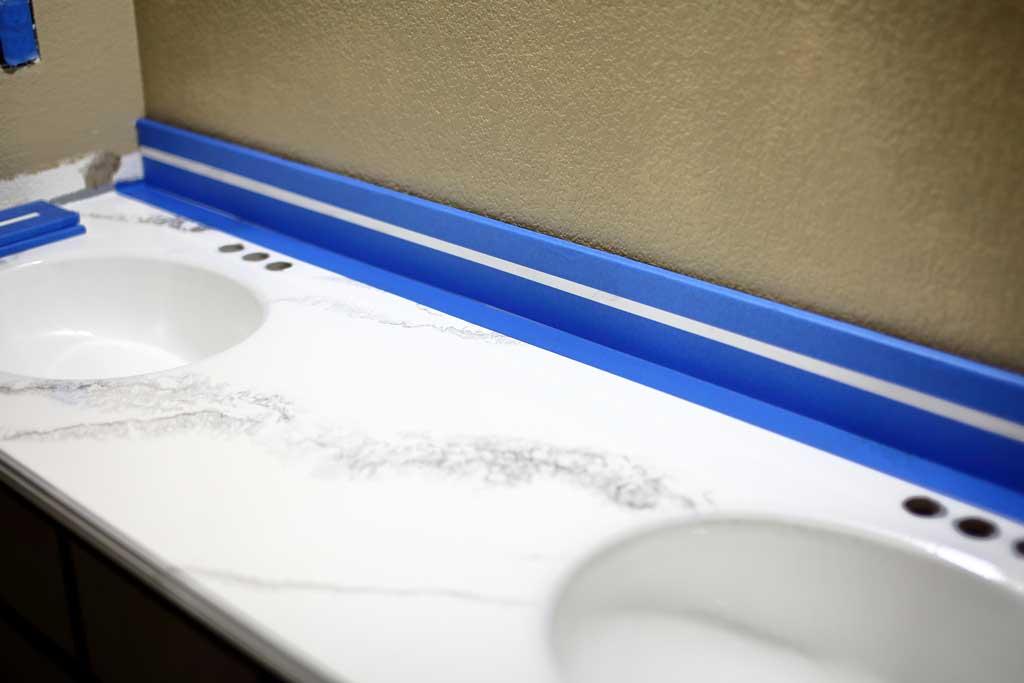 How To Refinish Bathroom Vanity Top With Diy Epoxy Resin Thediyplan