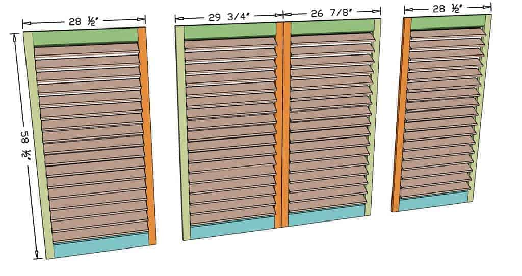 DIY Plantation Shutters dimensions