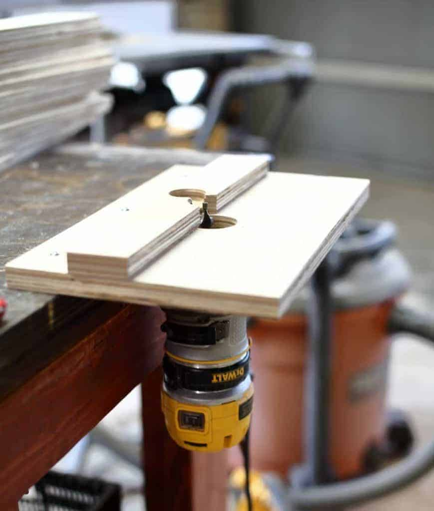 wood router table jig for slats