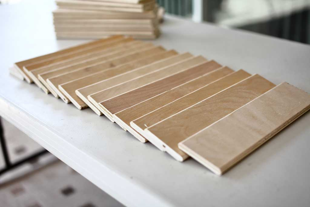 slats for DIY plantation shutters