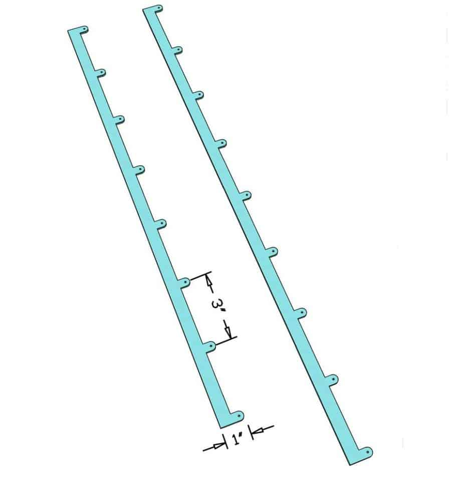 Metal control arm for plantation shutters