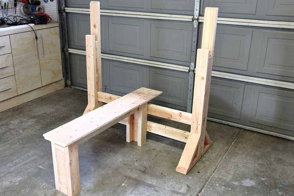 diy workout bench press
