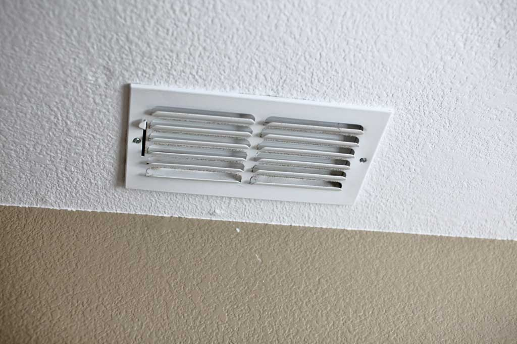 attaching register to ceiling