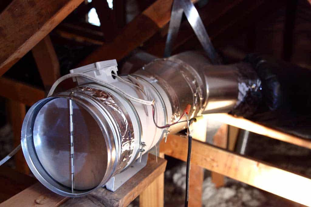 backdraft damper on whole house fan